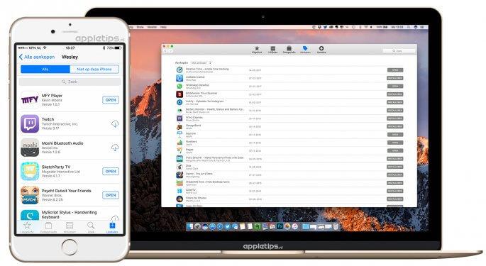 Eerdere gekochte apps opnieuw downloaden in de App Store