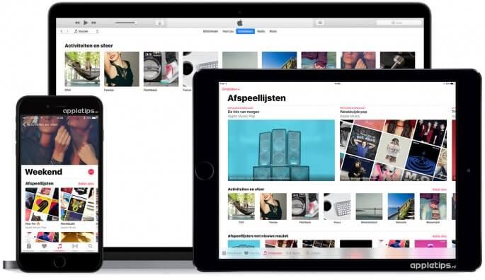 Activiteit Apple Music Afspeellijsten