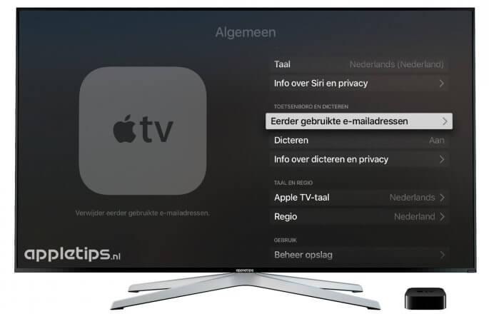 Instellingen Apple TV 4
