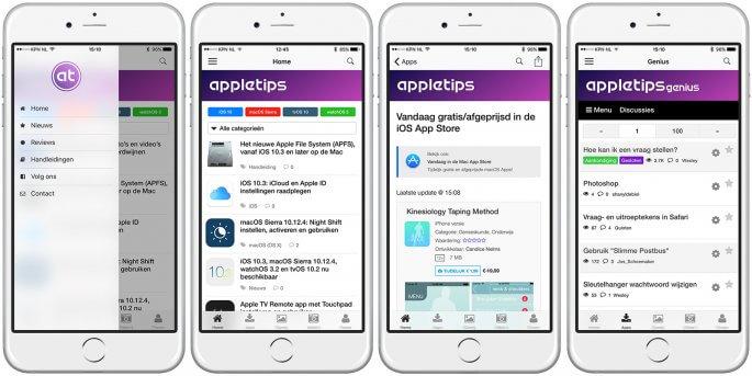 de vernieuwde appletips app