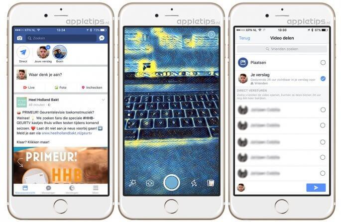 Facebook Stories nieuw