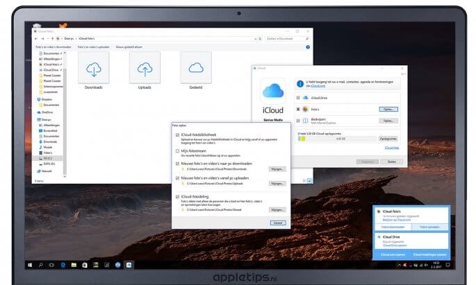 iCloud-fotobibliotheek in Windows