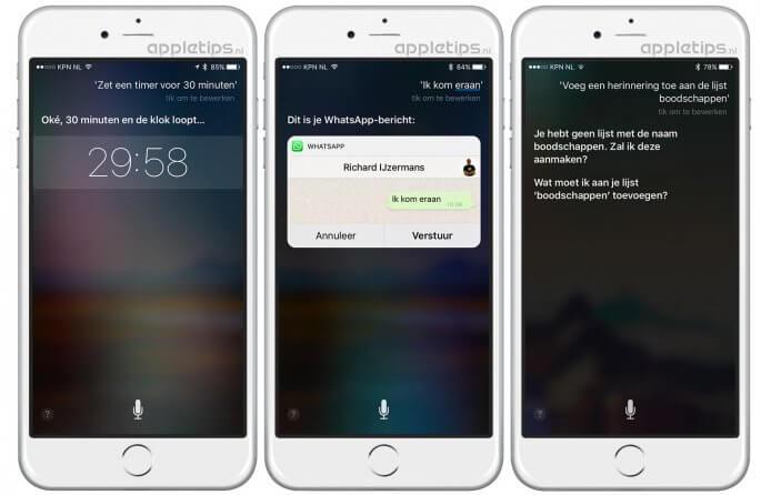 handige Siri commando's voor iOS