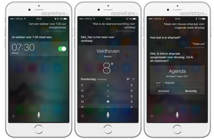handige Siri commando's voor iOS en iPhone