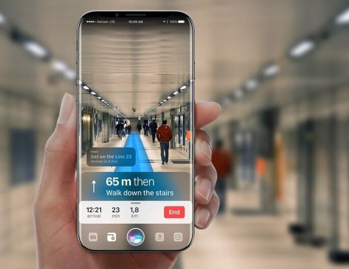 Augmented reality iPhone-8