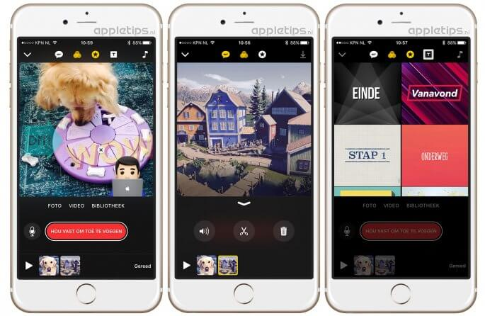 clips bewerken in iOS
