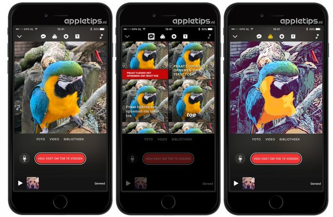 clips bewerken in iOS app