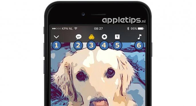 clips onderdelen in ios app