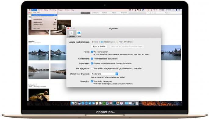 Foto's voor Mac sneller maken