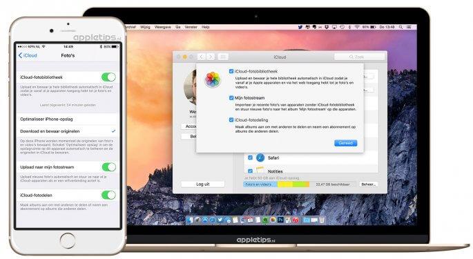 fotostream activeren voor mac en iOS