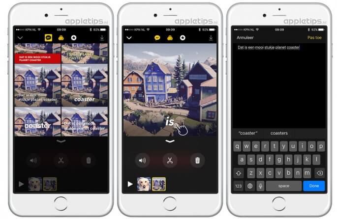 Gesproken tekst handmatig aanpassen in de nieuwe Clips app van Apple