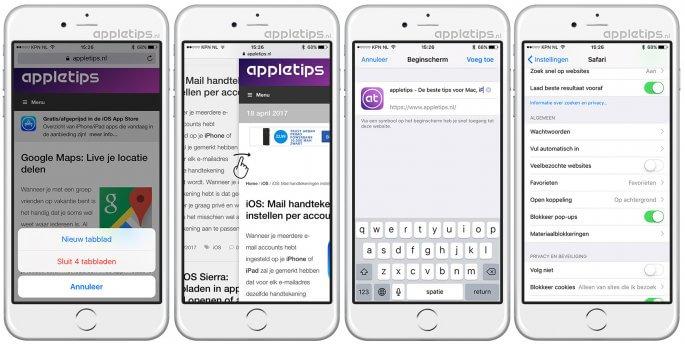 handige iOS Safari tips deel 1