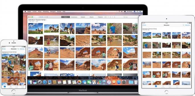 icloud-fotobibliotheek voorbeeld