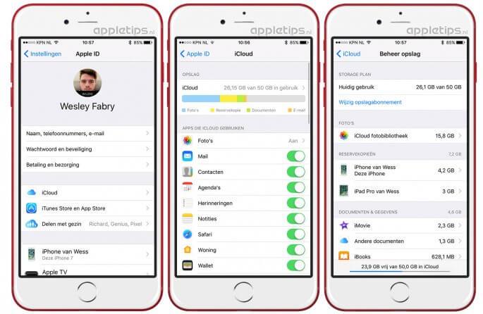 iCloud-opslag beheren vanaf iOS 10.3