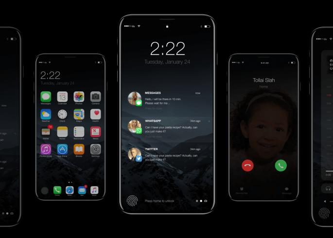 concept toont iPhone 8 en iOS 11