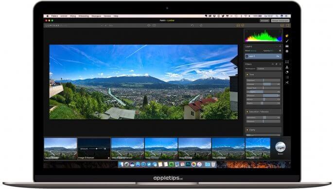 Foto's bewerken met luminar in Foto's voor Mac
