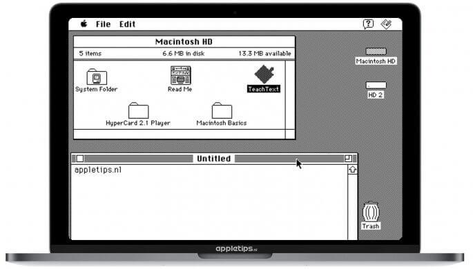 Macintosh software uittesten