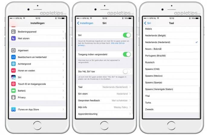 Siri activeren op een iPhone of iPAd