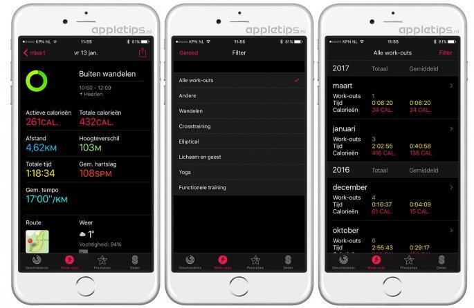Apple Watch work-outs gedetailleerd bekijken op je iPhone