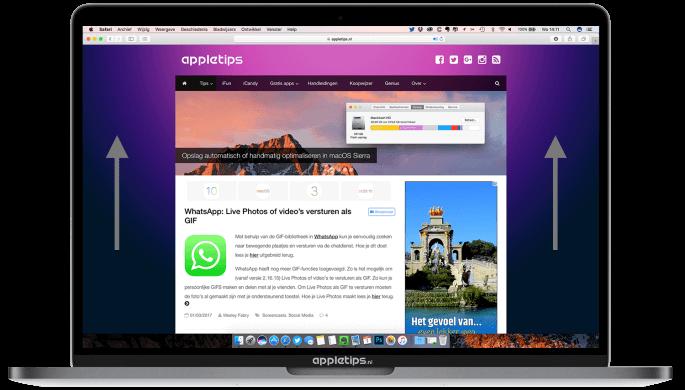 snel scrollen in Safari voor MAc