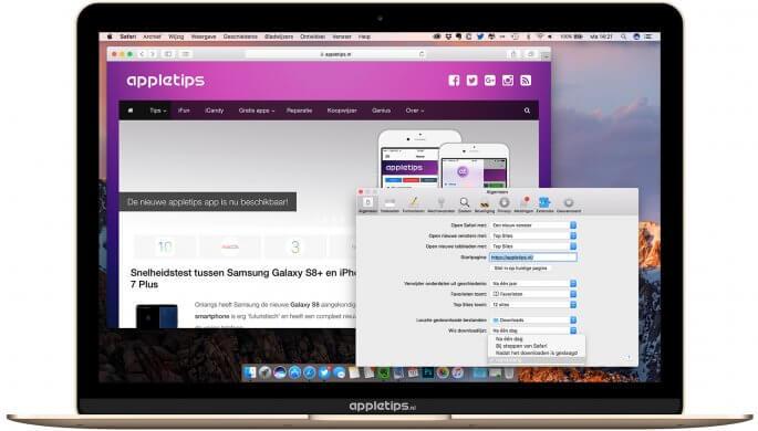 downloadlijst in safari voor Mac