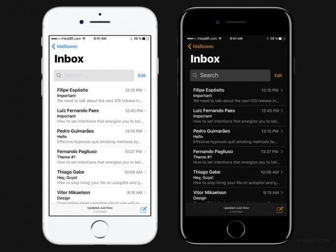 Mail inbox iOS 11 concept Filipe Espósito
