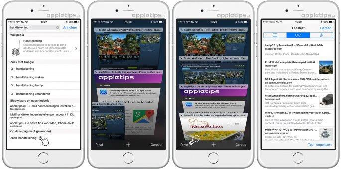 iOS Safari tips deel 2
