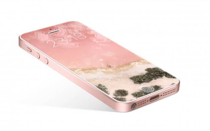 iPhone SE rosegoud concept 2017 van Bryan Suiker