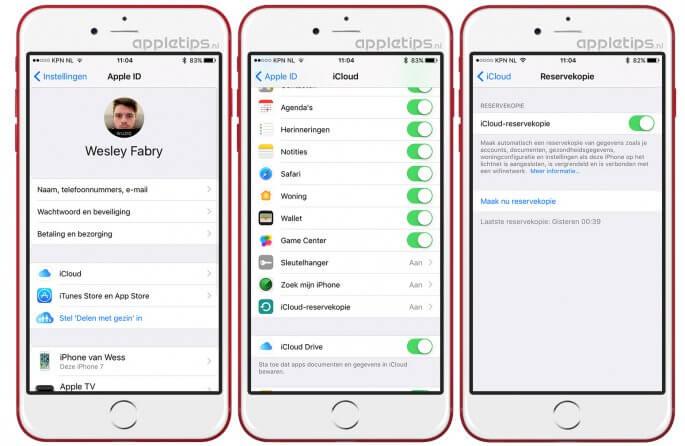 iCloud-reservekopie instellen op een iPhone of iPAd