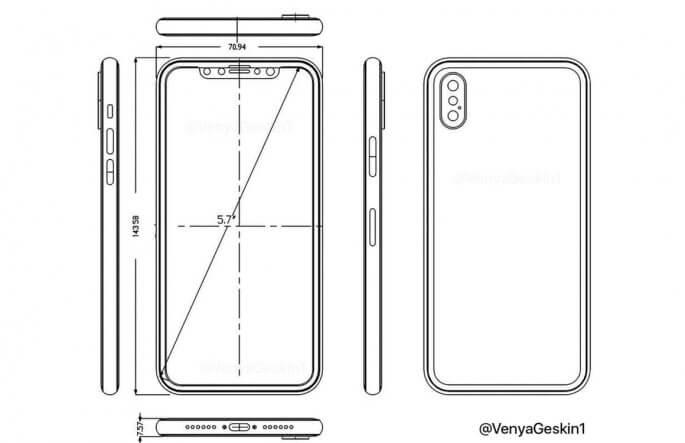 iPhone 8 dummy schematisch