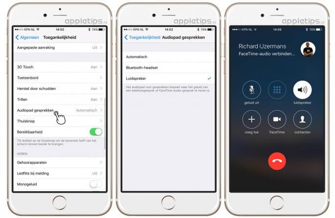 iPhone-speaker activeren bij telefoongesprekken