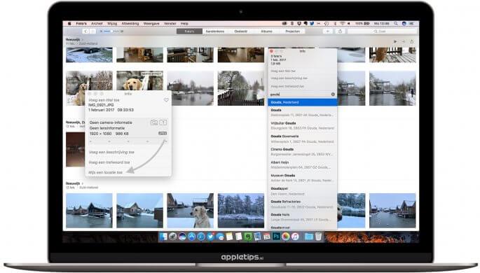 Locatie toevoegen aan foto's voor Mac
