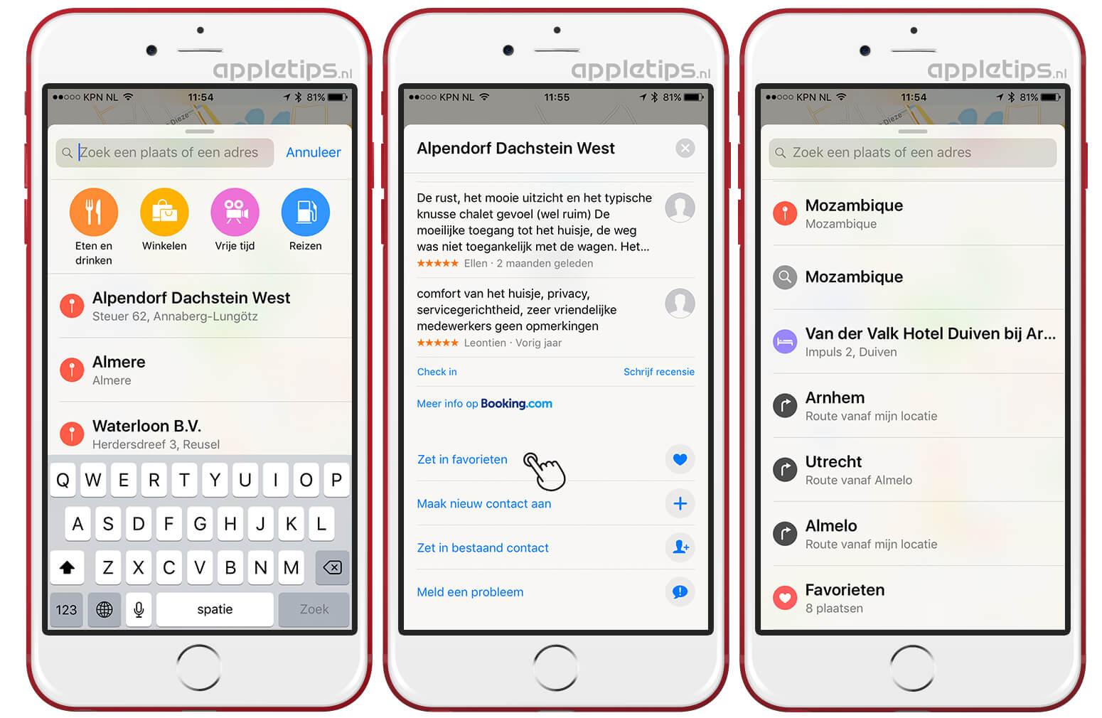 1152272a2f9 Locaties toevoegen aan je favorieten in iOS Apple Kaarten - appletips