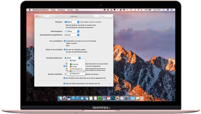 Standaard webbrowser op een Mac aanpassen