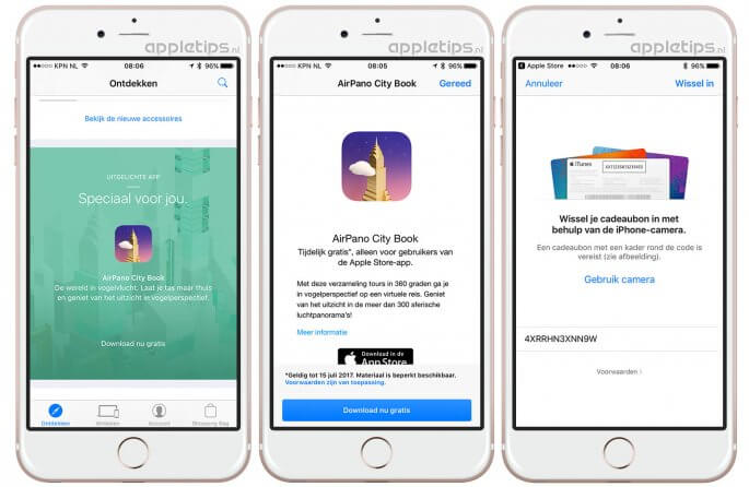 airpano city book gratis downloaden via App Store