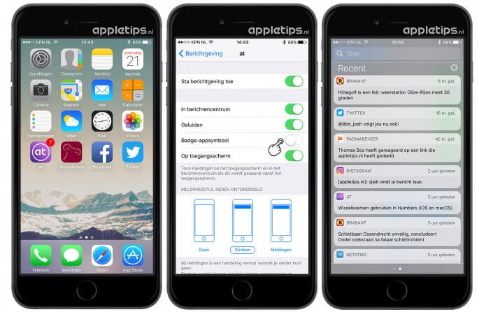 iOS badge-appsymbool verbergen