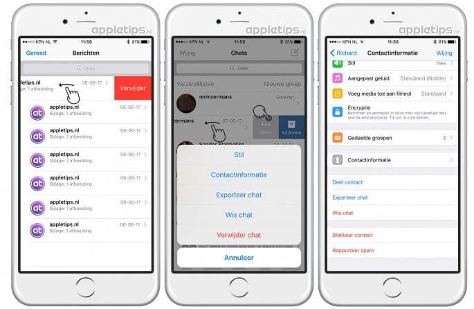 berichten verwijderen voor iPhone sneller