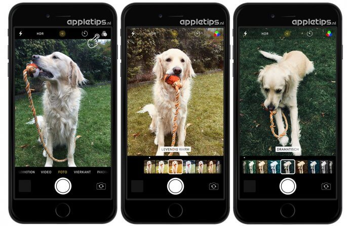 Professionele filters voor iOS 11