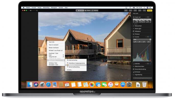 macOS high sierra foto's bewerken
