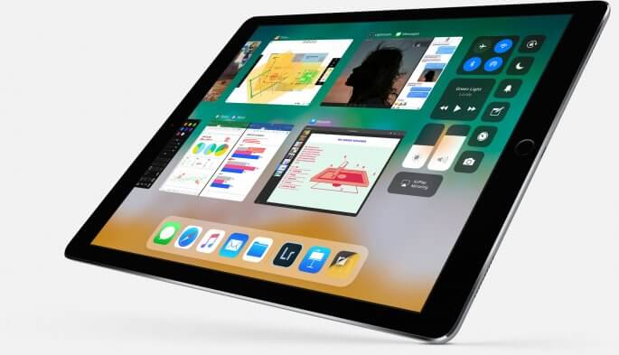 iOS 11 op iPad