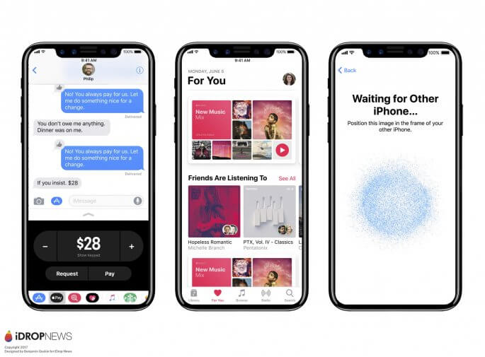 iOS 11 op iPhone 8 concept