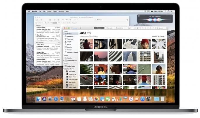 macOS High Sierra voorbeeld