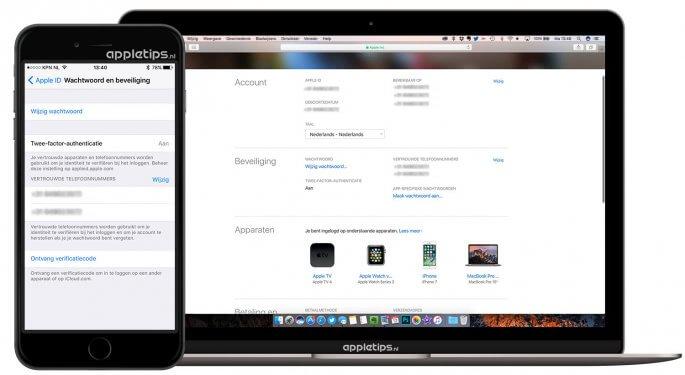 wachtwoord wijzigen van icloud of apple id