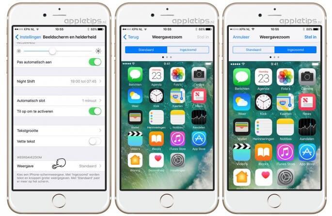 weergavezoom op een iPhone instellen (ingezoomd scherm)