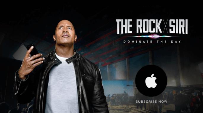 The rock en siri in de hoofdrol