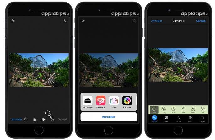 Foto's bewerken met apps en extensies in Foto's