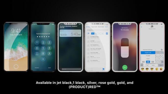 iPhone 8 conceptvideo voorbeeld