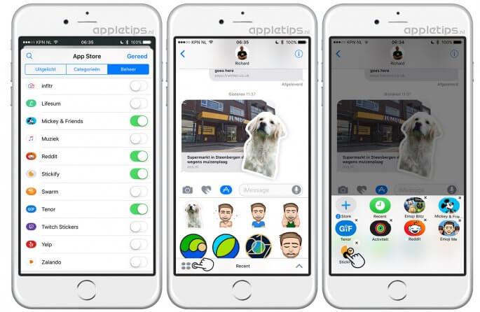 iMessage apps verwijderen in iOS Berichten
