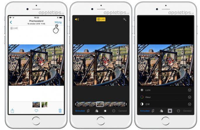 iOS 11 foto's live photos bewerken