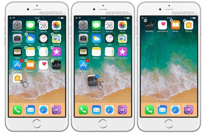 iOS 11: Meerdere apps tegelijkertijd verplaatsen met drag & drop